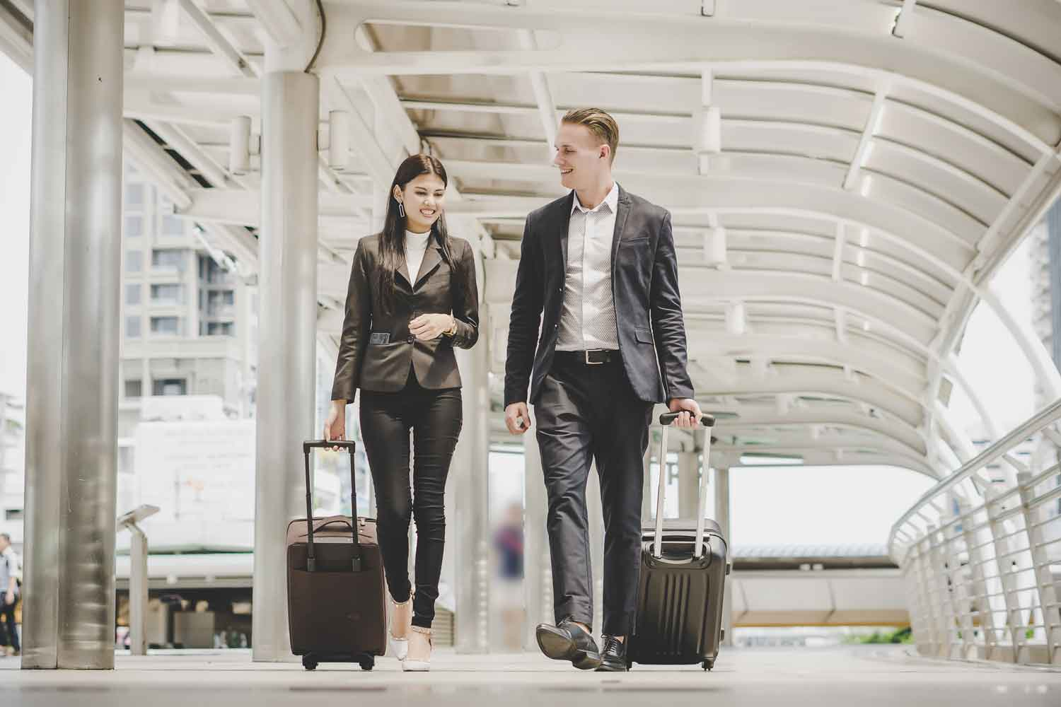 QuoteMe.ie business customers travelling abroad but happy they have extensive travel cover for all eventualities